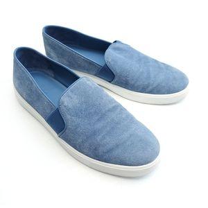 Vince Blue White Suede Shoes